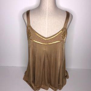 Moda International Dressy Gold Cami  Size: Medium
